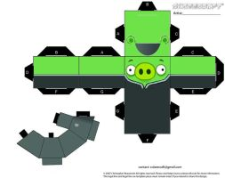 Imperial Officer Pig Angry Bird by Cyberlon by Cyberlon