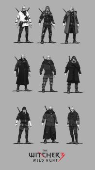 Jan Marek Geralt armor concepts 3 by Scratcherpen