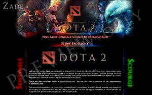 DotA 2 Website by zadelim