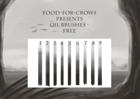 Oilbrushes - Free Set by Food-For-Crows