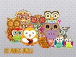 15 pngs owls by sodust