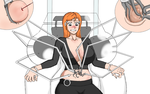 Orihime's belly button tortured by jedah998