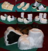 New feet paws for Dan D Lion by MrEd301
