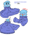 Spot wears Mina's stretched sweater - Part 1 GIMP by murumokirby360