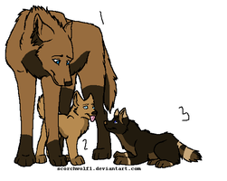 Wolf Family Adopts [3/3 open] by AvalaAdopts