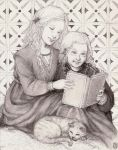 Tommen and Myrcella reading by Nawia