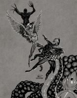 Hawk and Owl by micQuestion