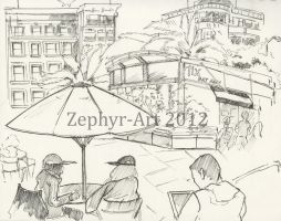 Union Square 5 San Francisco by Zephyr-Art