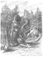 Encounter: Bigfoot-Sasquatch by Ricardofantasyart