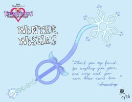 Winter Wishes Keyblade by JazzyTyfighter