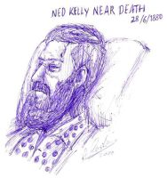 Ned Kelly near death by IronOutlaw56