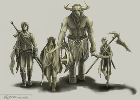 (2013-02-16) DnD Characters by PronouncedKnee