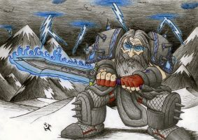 Dwarf Death Knight by triumviratusok