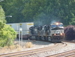 Three NS Diesels with Intermodal at Culpeper by rlkitterman
