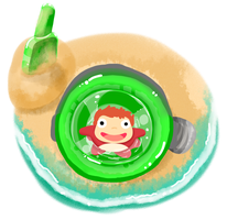 Ponyo in a Bucket by 11yle
