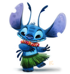 Daily Paint #626 - Stitch by Cryptid-Creations
