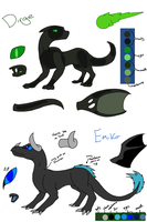 Dirge and Emiko Ref by Ask-Creeps-and-Lanky