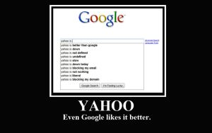 Yahoo vs. Google Demotivator by LittleBigDave
