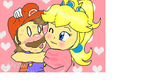 Princess PeachX Mario by megadaisy1