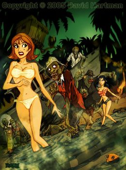 GILLIGAN'S ISLAND OF THE DEAD by sideshowmonkey
