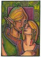 Caress - ACEO by Dozaloz