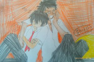 KHR both rest and watch Outsider by Bluedragoncartoon