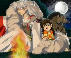 Sesshomaru and Rin by Goophou