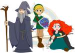 Wizard, Swordsmen and Archer by Dragon-FangX