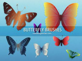 Free Butterfly Brushes by xara24