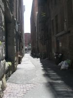 Deserted Alleyway Stock by Nutarei