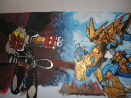 Beelzemon X VS Magnamon X by Kitamon