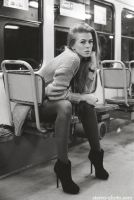 in a tram by mystereophoto