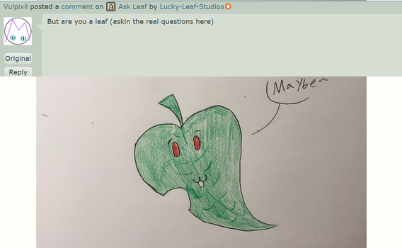 Ask Leaf: Question 1 by Lucky-Leaf-Studios
