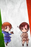 Hetalia iWallpapers - Italy (and Romano) by Dreamweaver38