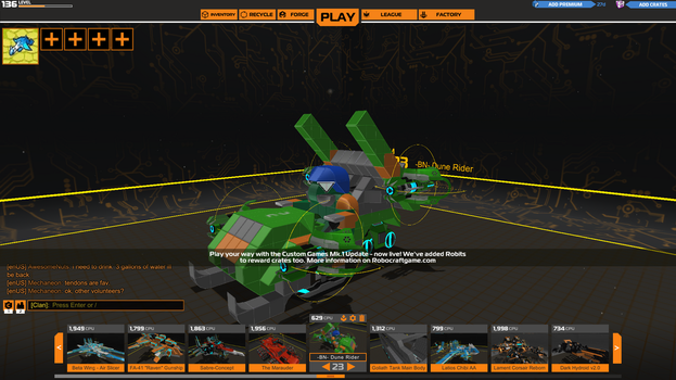 Robocraft - Battle Nations Dune Rider by Latios1056