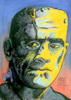 Frankenstein Monster Sketchcard by ragzdandelion