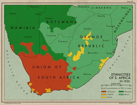 Ethnicities of S. Africa and the Orange Republic by HistoryDraft