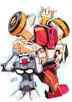 TF:MTMTE - Chromedome and Rewind - for Sprite by Kingoji