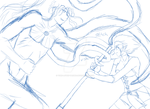 Yori and Narau, Final Battle WIP by Yori-Loves-Taisho