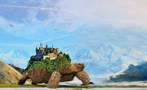noel's moving castle by auratha11