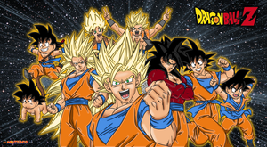 goku all form coloring by Naruttebayo67