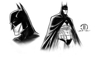 Batman digital sketch by JoeyVazquez
