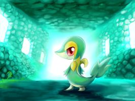 Pokemon-Snivy by LuckyFantasy4EVER