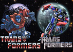 THEN and NOW Optimus Prime. by DCSPARTAN117artwork