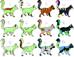 12 free adopts :3 by intoxicated-with-paw
