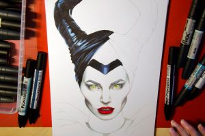 Maleficent WIP by Kattvalk