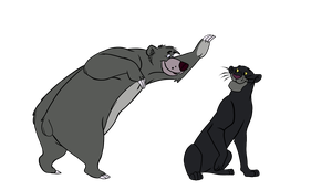 Jungle-book-Baloo and bagheera by Piko-Ai-chan
