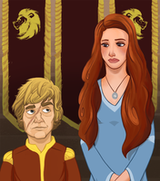 Sansa and Tyrion by PeterSenay