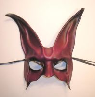 Leather Rabbit Mask Purple Red by teonova