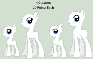 CLOSED - 20 Points Each - Custom Ponies by sararini